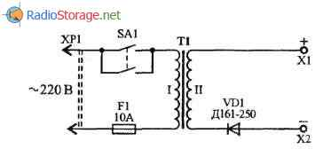 Простейшие пусковые устройства 12В для авто на основе ЛАТРа, схема