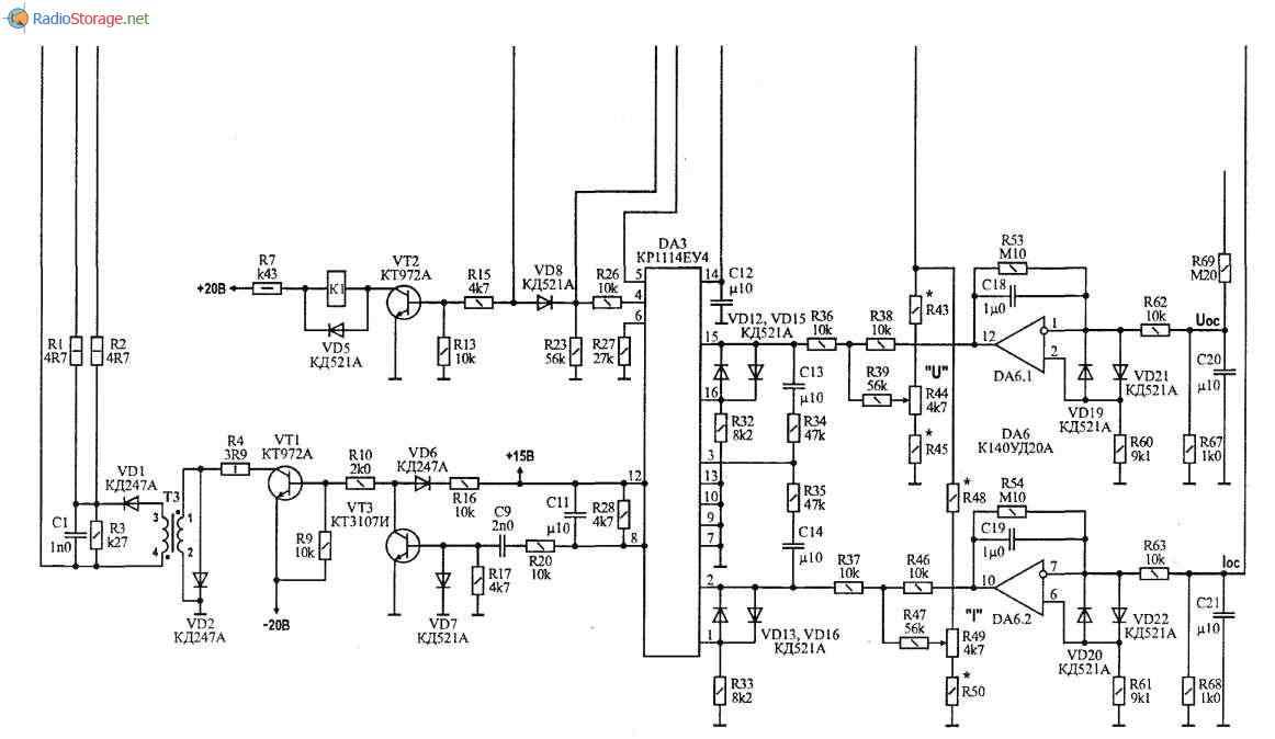 схема Зарядно-пусковое