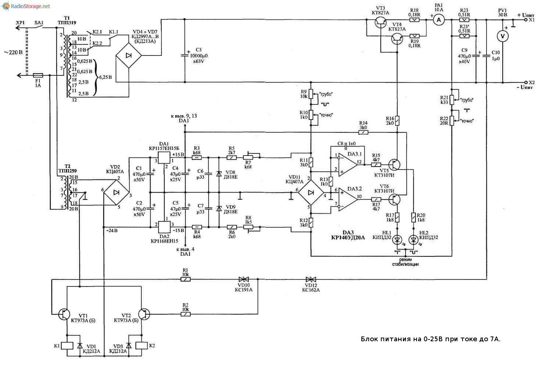 схема мощного генератора тока на транзисторе