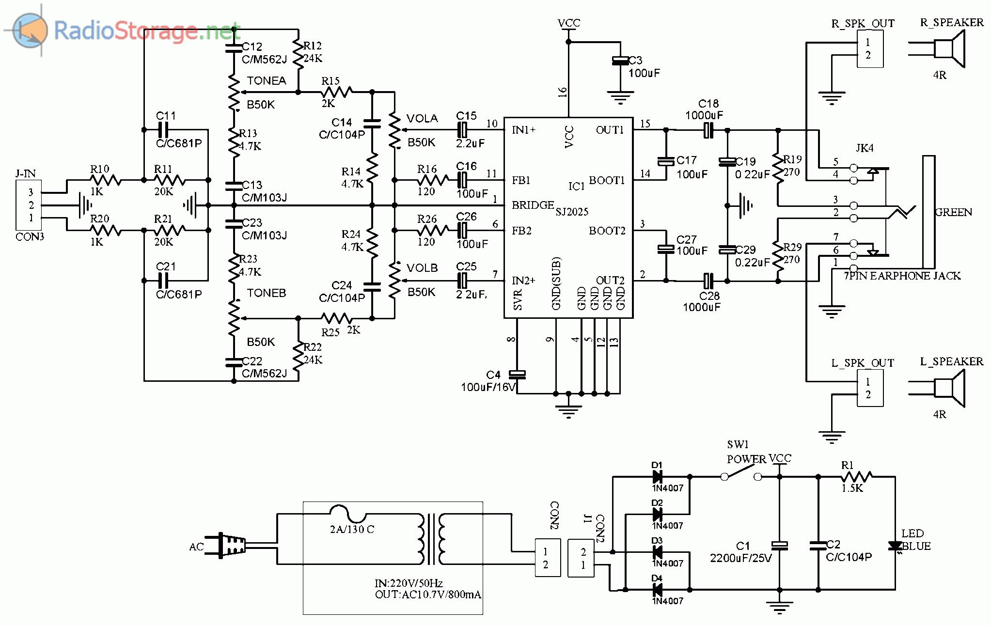 Схемы для колонок sven 2.1