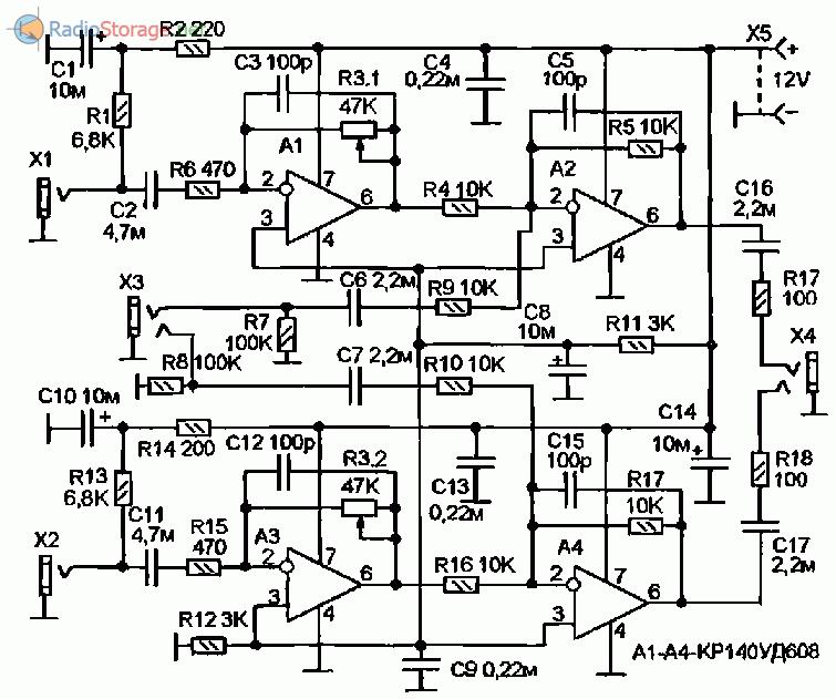уд608 схема включения