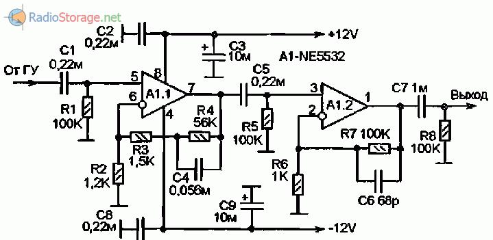Принципиальная схема предварительного усилителя фото 242