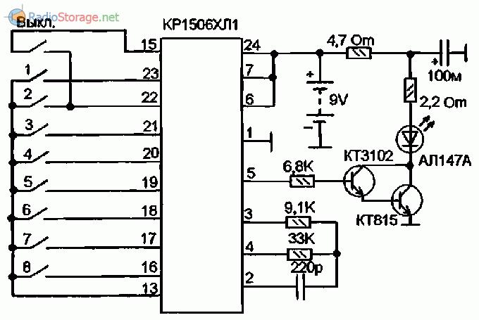 Схемы пультов управления телевизоров