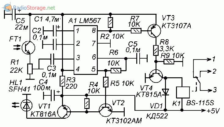 Простейший терморегулятор схема