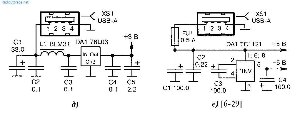 Схемы питания МКот USB