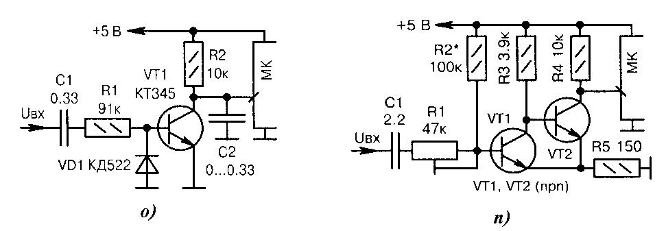 Схемы входных транзисторных