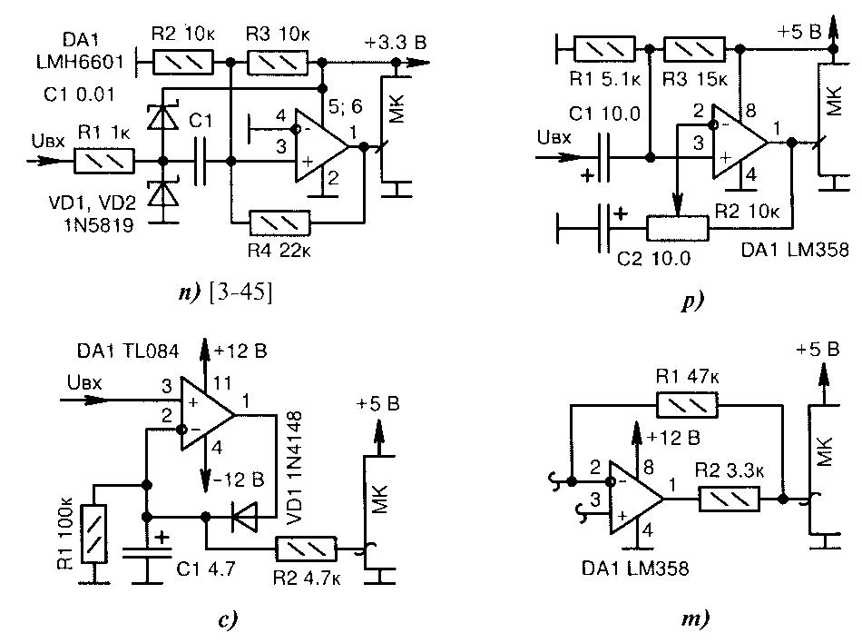 Схемы усилителей сигналов на