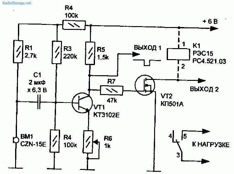 Схемы акустических датчиков