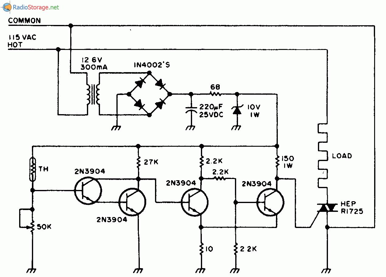 В регуляторе для электроплиток (рис. 1.1) используется позистор (терморезистор с положительным температурным...
