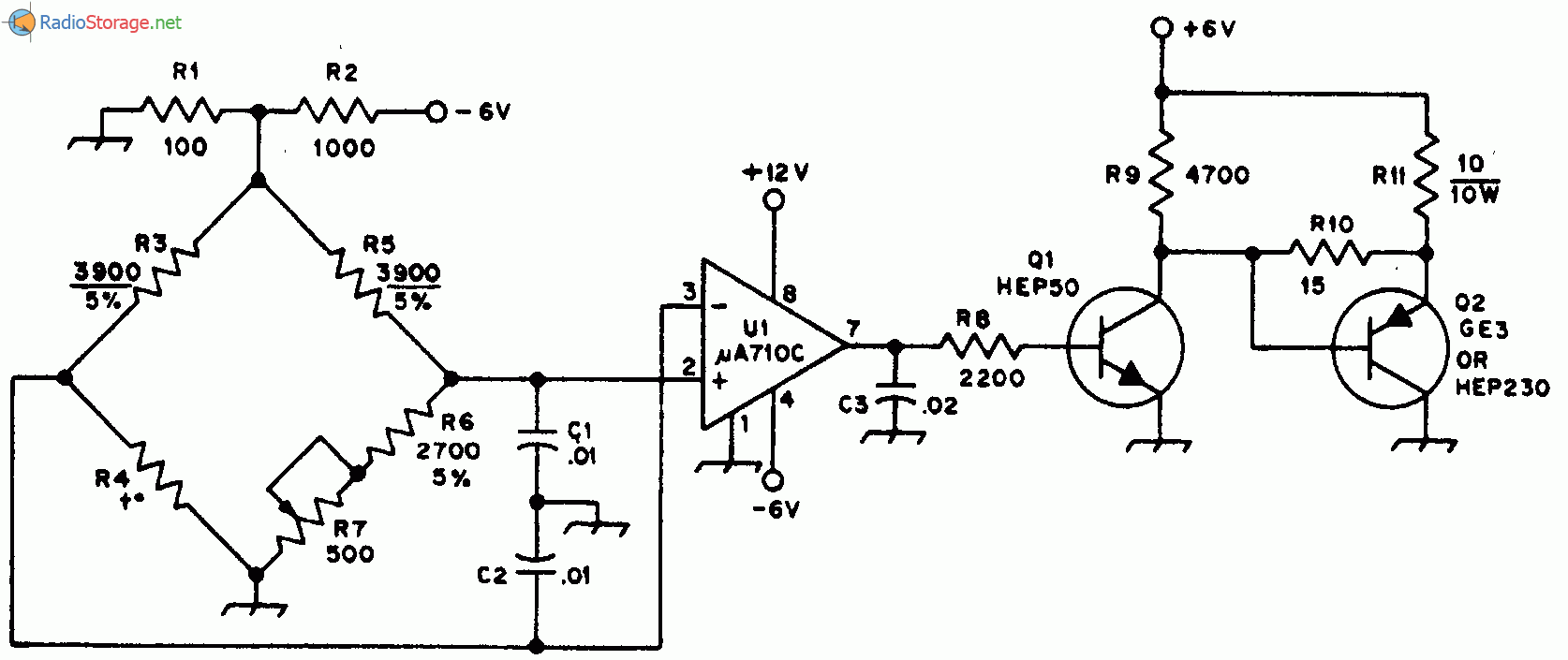 Регулятор для термостата кварцевого резонатора - схема.