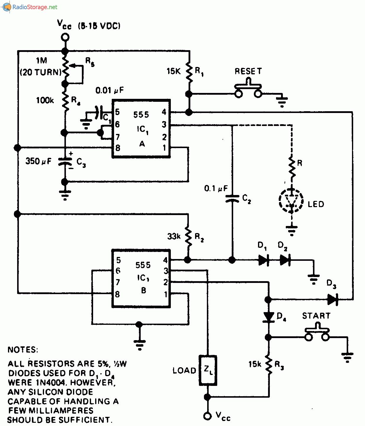 Циклический таймер на 555 схема фото 890