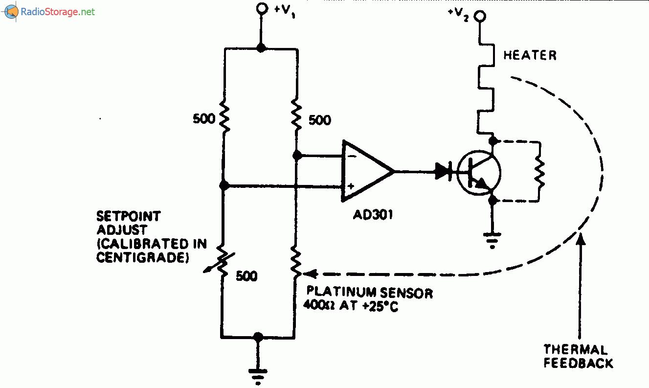 Регулятор с компаратором на операционном усилителе с точностью до 0,01 С. Регулятор с компаратором на операционном...