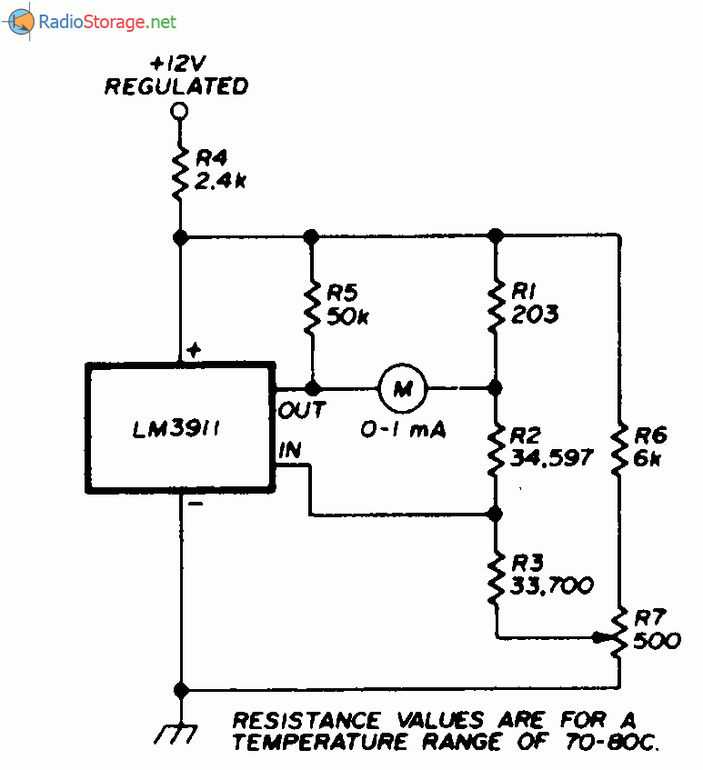 Электронный термометр на 70-80