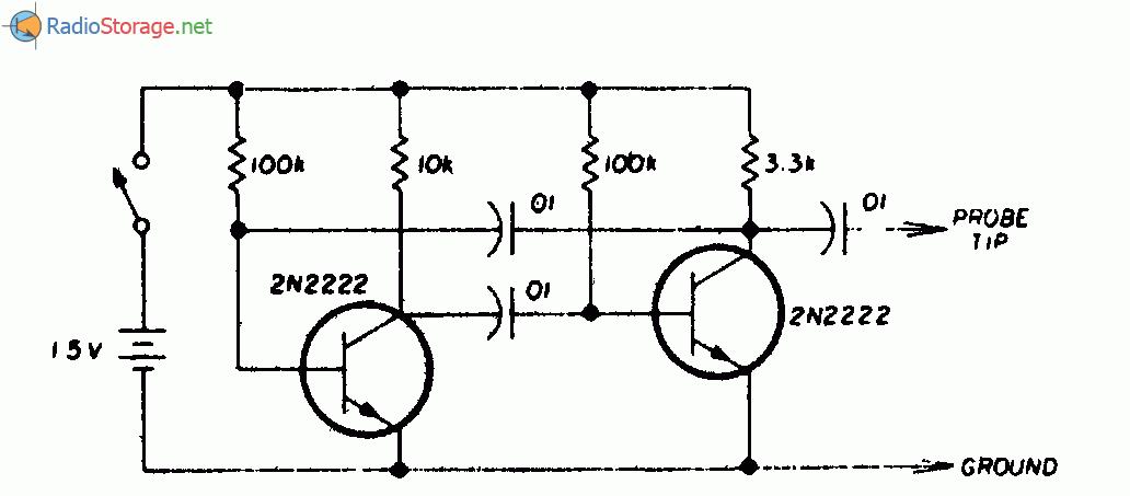 Схема сигнал-генератора является обычным мультивибратором с частотой 1 кГц на выходе, она содержит высшие гармоники...