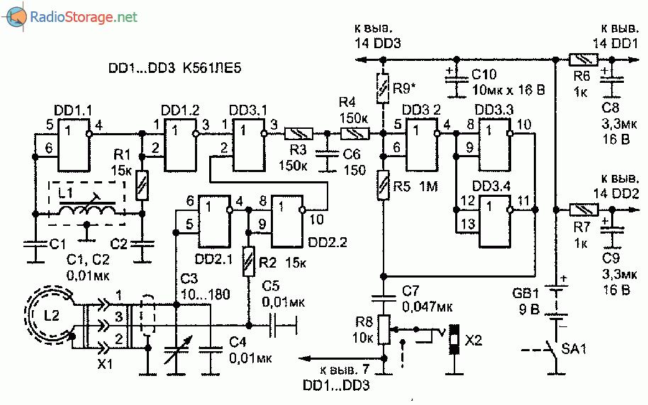 схема металлоискатель