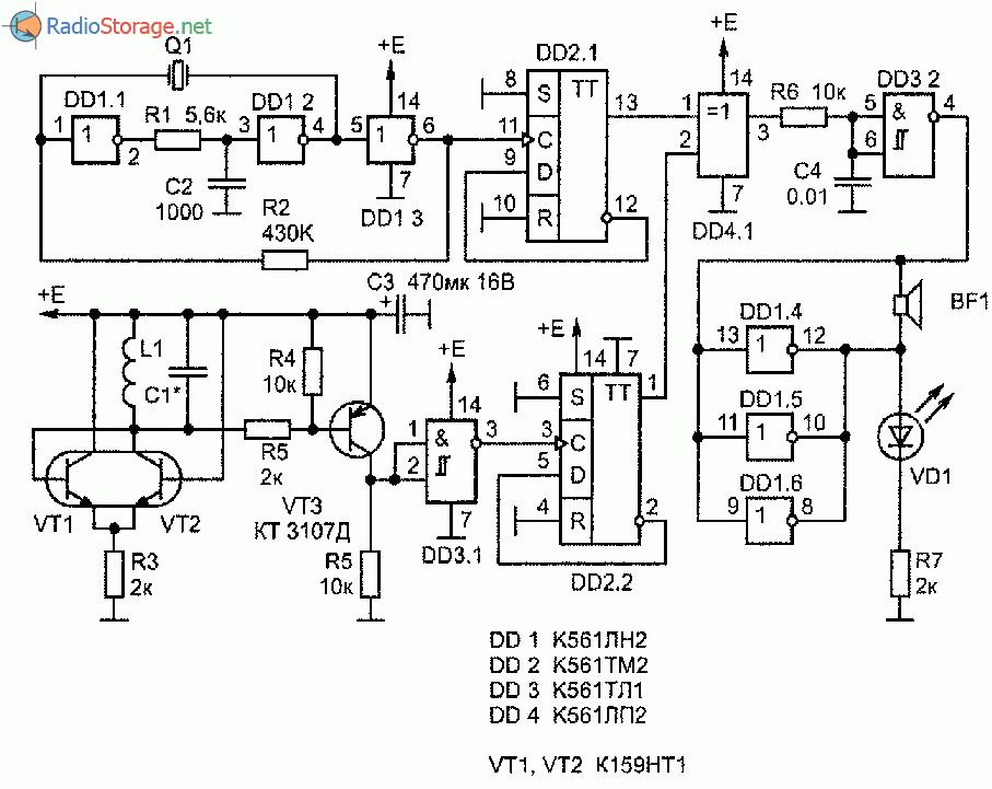 Схема кварцованного