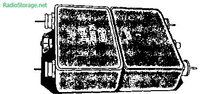 Вид конструкции промышленного модуля двухкаскадного сетевого фильтра из серии Д16