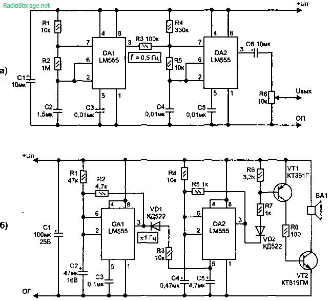Схема двухтонального звукового