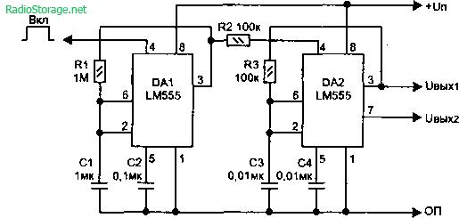 тонального сигнала (LM555)