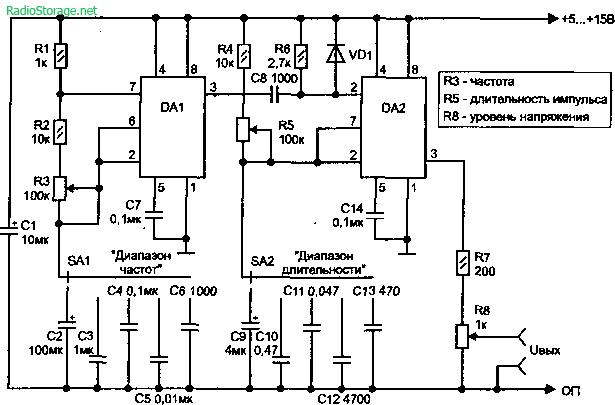 Генератор прямоугольных импульсов схема фото 654
