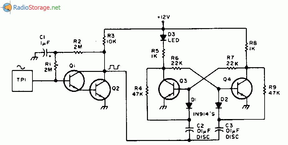 Электронная схема: Игровой автомат Орел решка на основе сенсорного элемента.