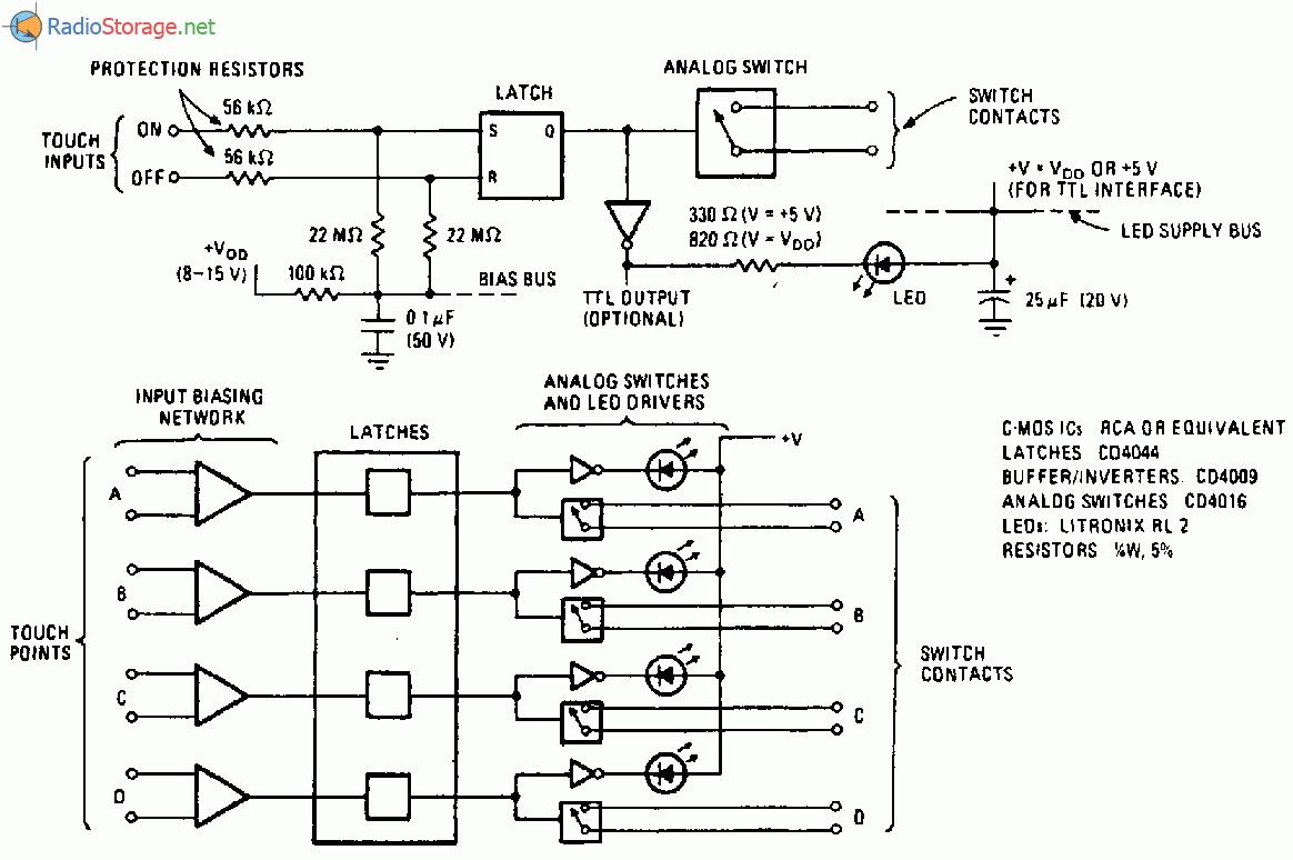 КМОП-логика позволяет построить противодребезговую схему управления аналоговыми коммутаторами на КМОП-микросхемах...