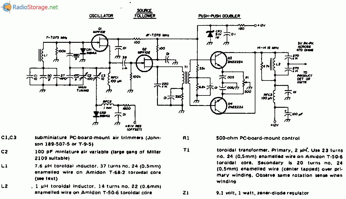 Схемы генераторов на цифровых микросхемах.