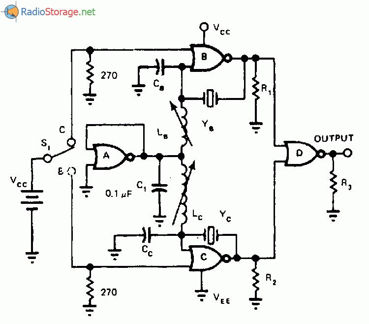 Схема генератора с двумя