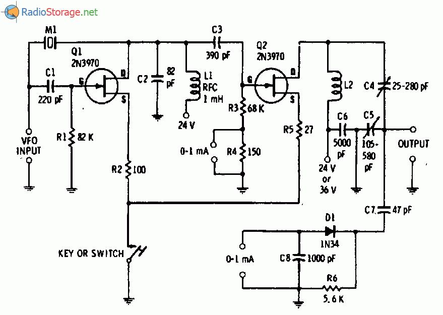 Схема простого CW-передатчика