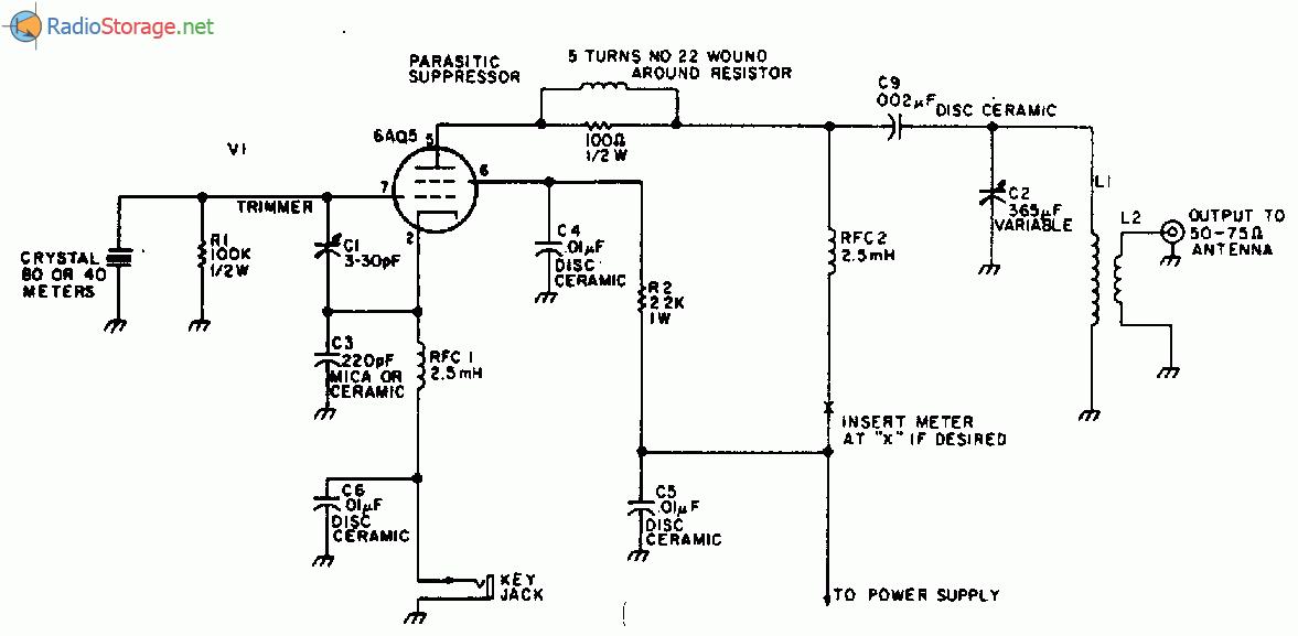 Схема передатчика диапазона 80