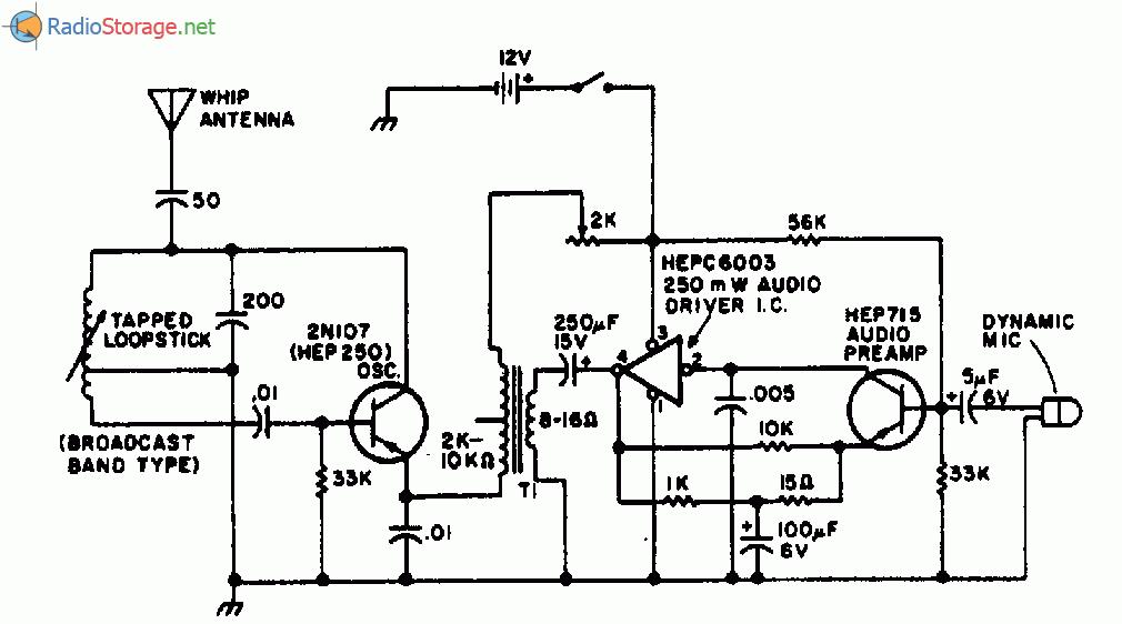 на двух транзисторах для