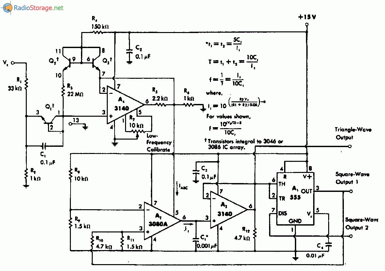 Схема генератор управляемый напряжением