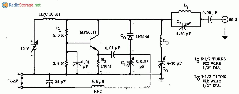 Генератор на 52 МГц с ЧМ на