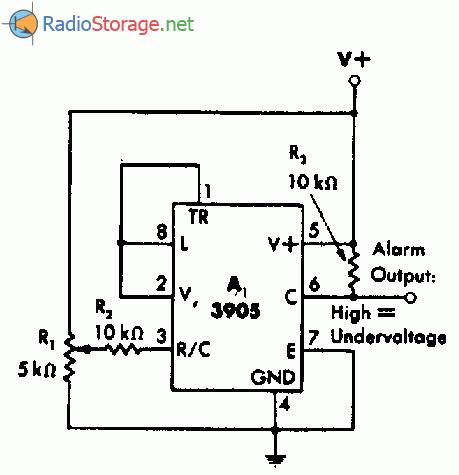 Схема сигнализатора падения