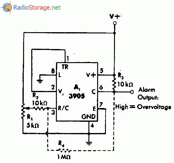 Схема сигнализатора о