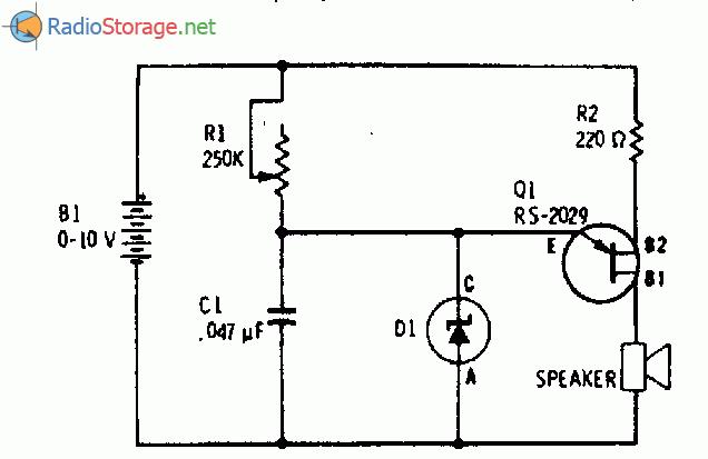 Схема сигнализатора о низком