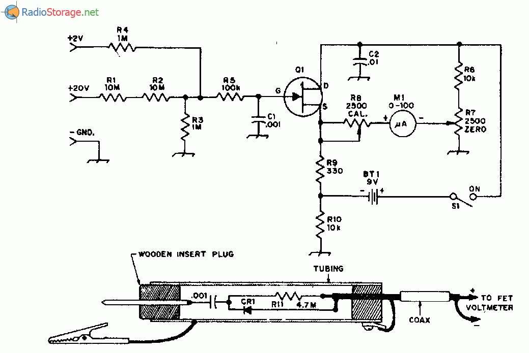 Схема вольтметра на одном