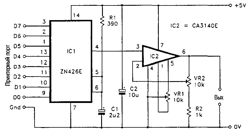 ЦАП для принтерного (LPT)