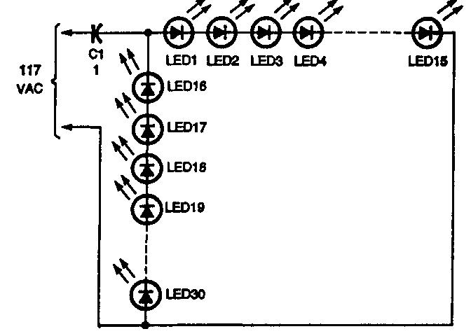 электронные схемы на светодиодах.