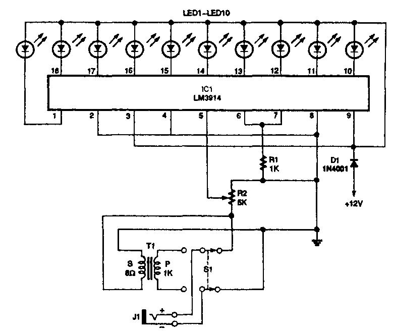 Линейная шкала на светодиодах