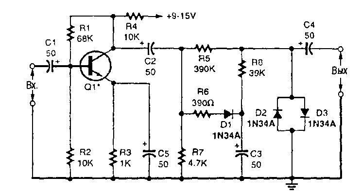 Схема усилителя-компрессора на