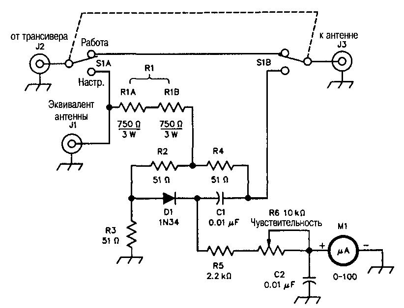 Схема индикатора настройки