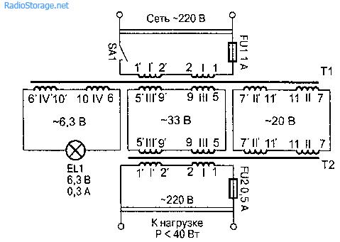 Преобразователь 220 В 220 В. Радиолюбителям.  Схемы для дома.