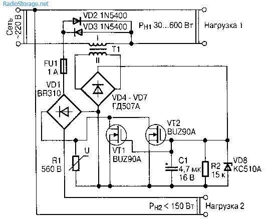Irf830 схемы включения