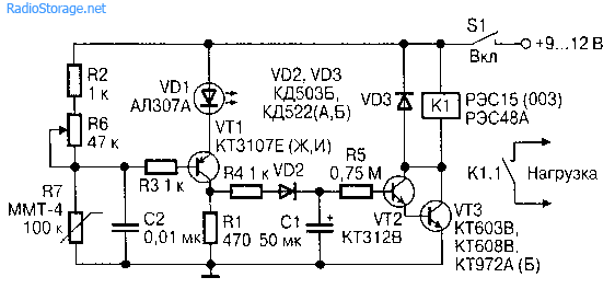 Датчик пожара на транзисторах