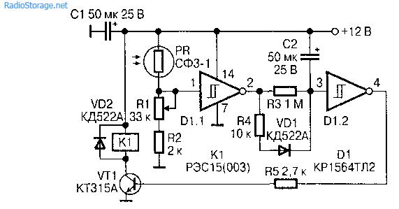 detektory i datchiki Универсальные фотодатчики на фоторезисторах.