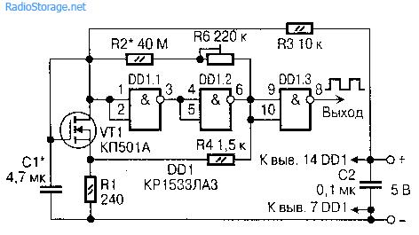 Схемы генераторов с