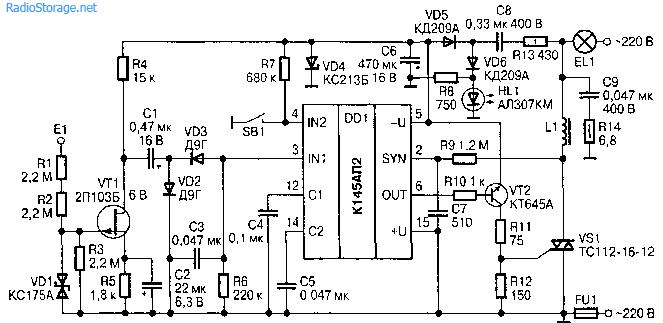 Схема сенсорного выключателя с фиксацией фото 183