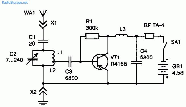 Электронная схема простого КВ