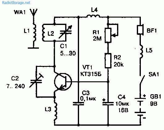 Схема на приемник на транзисторах